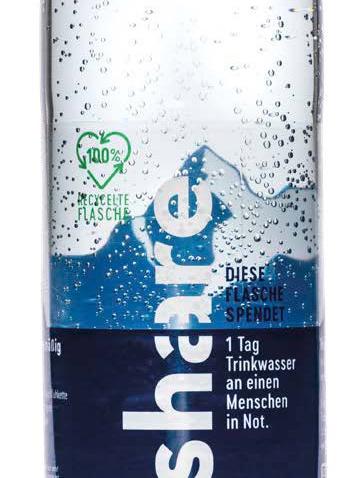Voda Share nově v PET lahvi ze 100% recyklátu