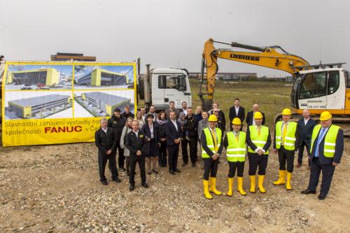 FANUC zahájil stavbu nové budovy v Horních Počernicích