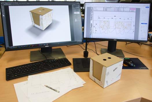 Strukturální a grafický design v rukou lepenkářů